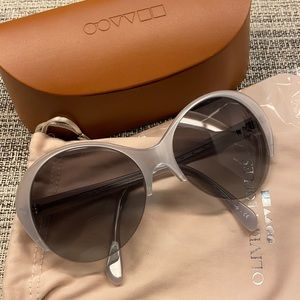 New (Never Worn) Silver Oliver People Sunglasses